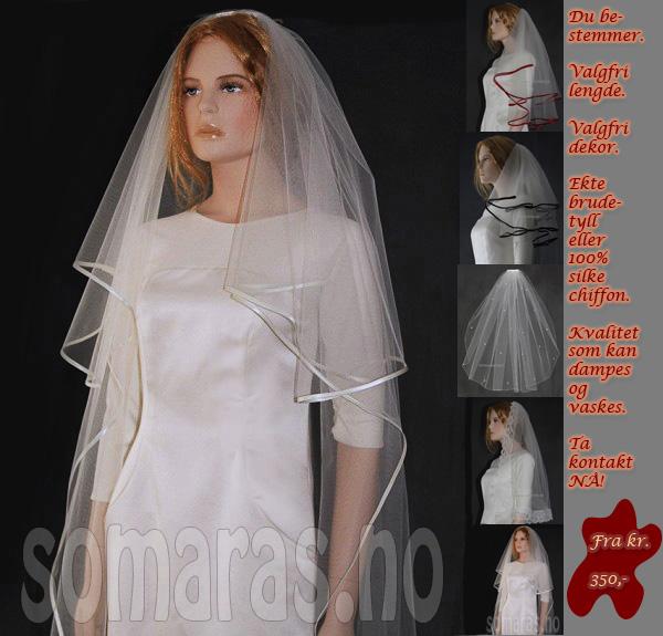 Brudeslør slør brudekjoler